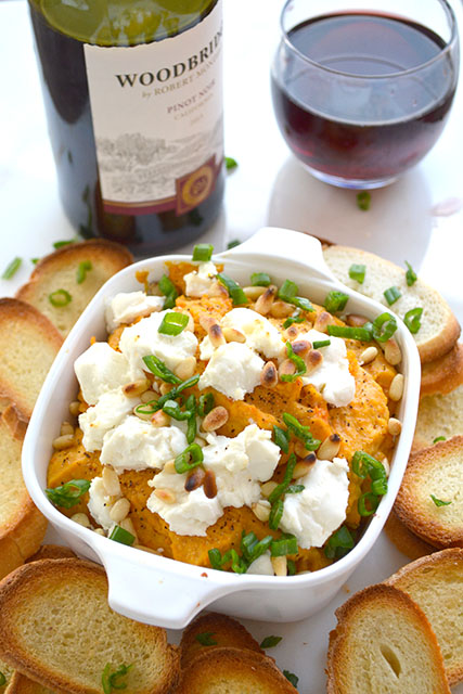 Roasted Butternut Squash & Goat Cheese Dip - I am a Honey Bee